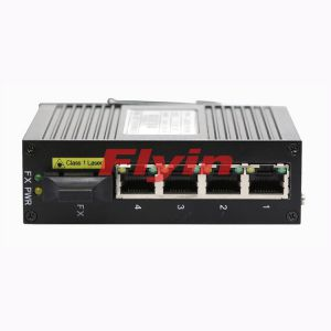 10/100M Industrial Fiber media converter with 4 RJ45 port+1 Fiber port
